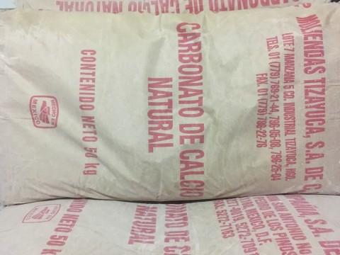 pedidos Carbonato de calcio bulto 50kg