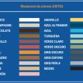 colores JUNTEX